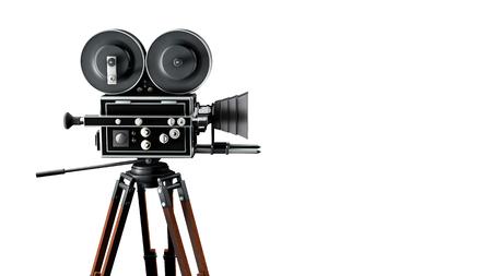Photo pour Vintage movie camera right side - image libre de droit