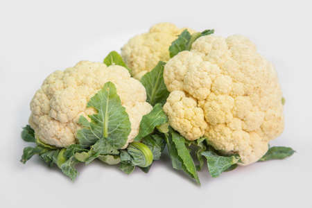 Photo pour Cauliflower is a plant in the cruciferous family, as well as broccoli and cabbage. - image libre de droit