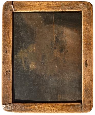 Photo pour Vintage slake blackboard isolated on white - image libre de droit
