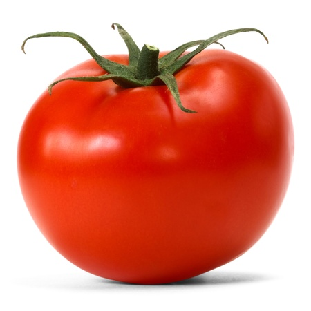 tomato over white background