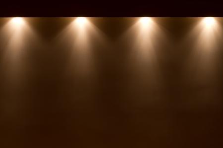 spot lights on the wall