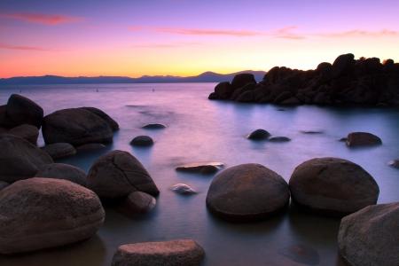 Lake Tahoe after sunset Lake Tahoe after sunset