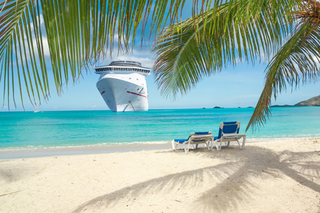 Photo for Cruise ship tropical beach - Royalty Free Image