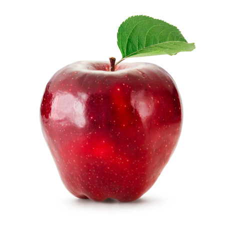 Photo for Red apple isolated on white - Royalty Free Image