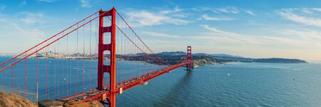 Photo for Golden Gate Bridge panorama, San Francisco California - Royalty Free Image