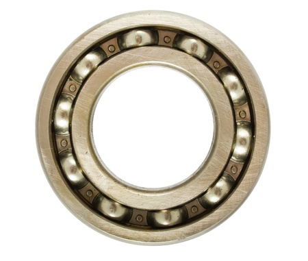 Photo pour Single steel ball bearing isolated on a white background - image libre de droit