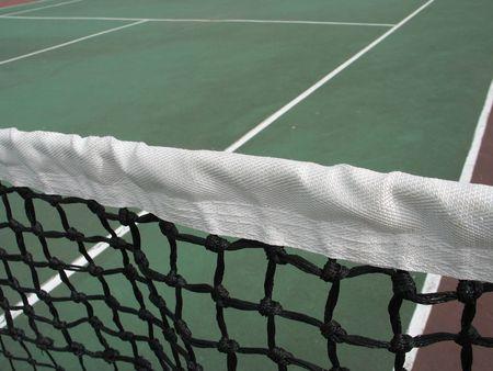 green tennis net close up