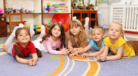 Group of children in a kindergarten