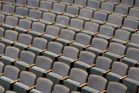 Rows of seats in a theater for the audience