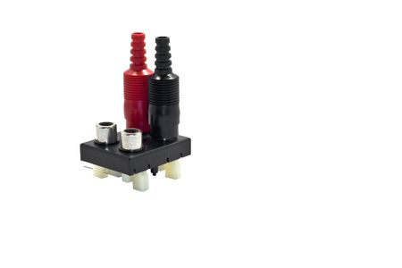 Audio aka phono  or CINCH/AV connectors on a white background