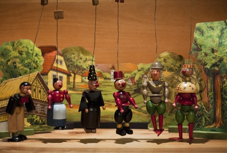 Old wood marionettes