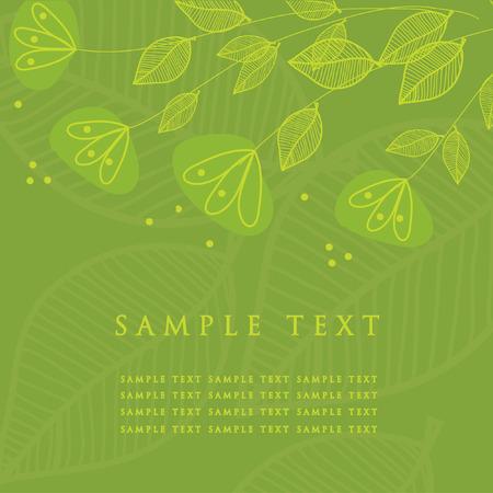 Floral card. Vector illustration