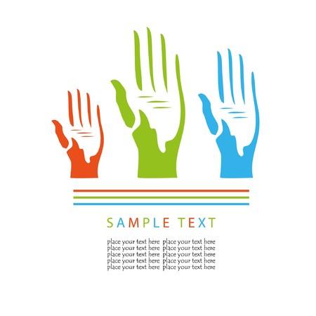 Voting hands.  concept
