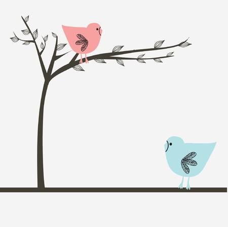 Love couple of birds