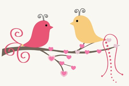 Photo for Birds couple in love - Royalty Free Image