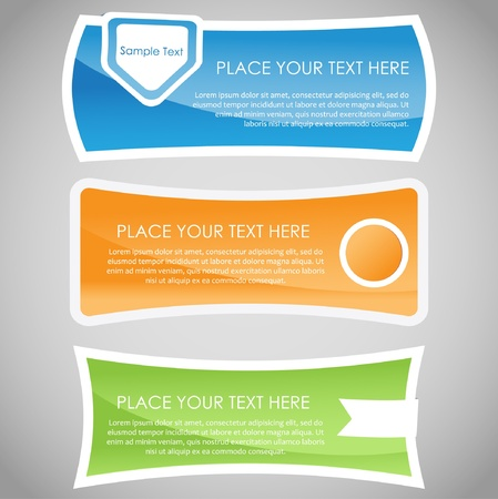 Set of colorful glossy banners