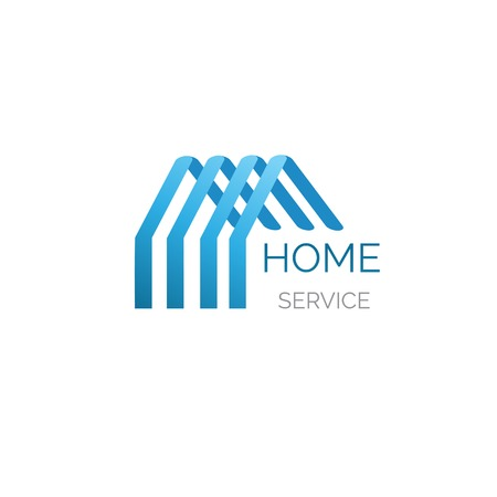 Vector house logo for your company. Godd for home service, cleaning, inshurance and other buisiness