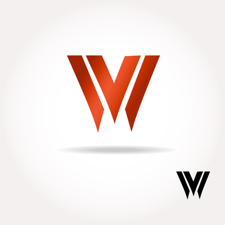W letter bright colors  logo  - Vector Illustration, easy editable for your design. Business Logo