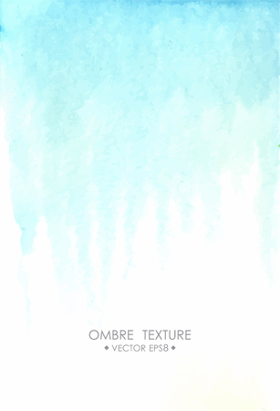 Hand Drawn Ombre Texture Watercolor Painted Light Blue