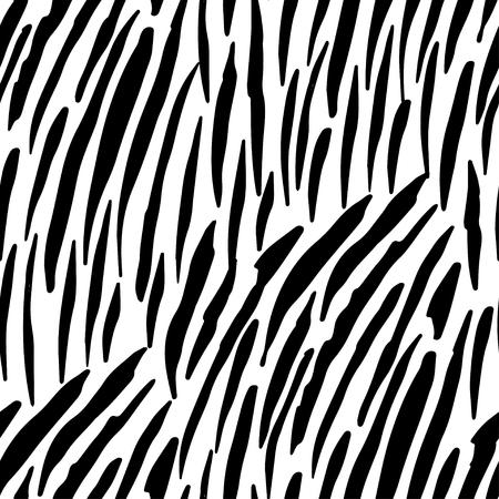 Illustration pour Vector illustration of seamless zebra pattern. Black and white print design for clothing, textile, wallpapers - image libre de droit
