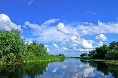 A watter channel in the Danube Delta