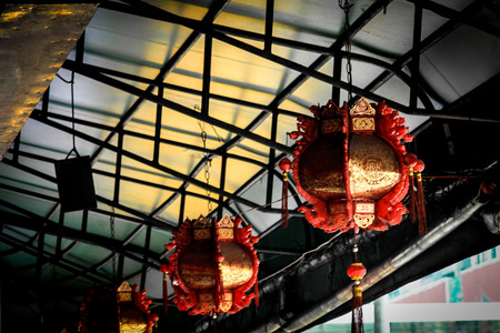 A very nice hand crafted red golden lantern to be found in and around the temple and inside.