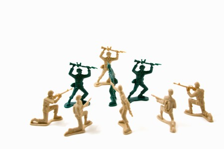 Isolated Plastic Toy Soldiers - Stubborn Concept