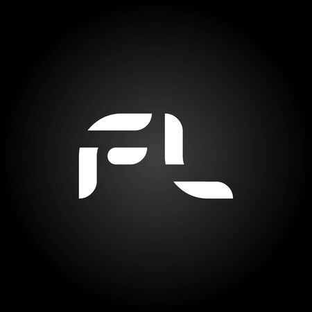 Initial Letter FL Logo Design Vector Template. Creative Linked Alphabetical FL Logo Vector