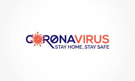 Illustration pour Coronavirus disease (COVID-19) Social Awareness Design. 2019-nCov / Novel Corona Virus Awareness Typography Vector Template - image libre de droit