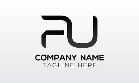 Initial PU Letter Logo With Creative Modern Business Typography Vector Template. Creative Letter PU Logo Vector.