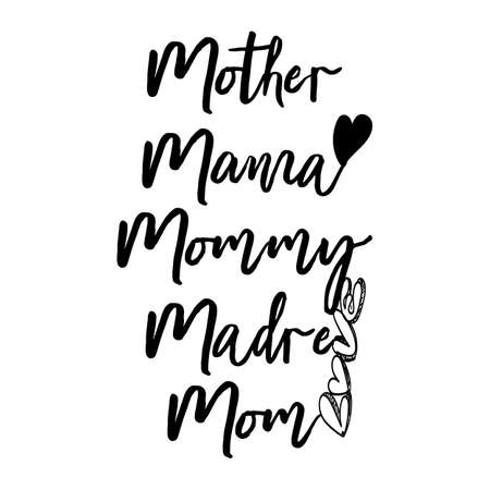 Illustration pour Mothers Day Mother, Mama, Mommy, Mom Typography letter Crafts or Tshirt Design Vector Template - image libre de droit