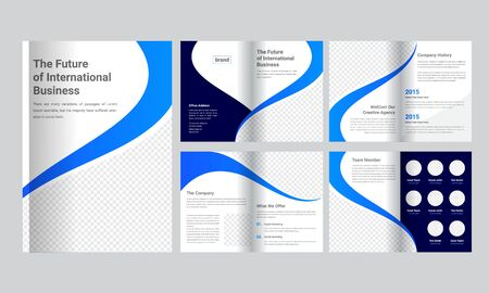 Illustration for Business Brochure Template - Royalty Free Image