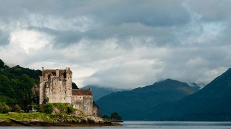 Eilean Donan castle, very popular landmark in Scotland