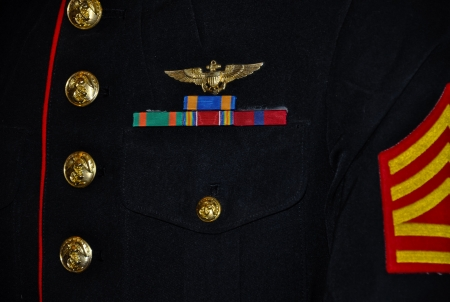 details of a us marine corps parade uniform