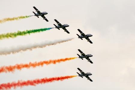 aerobatics team in formation