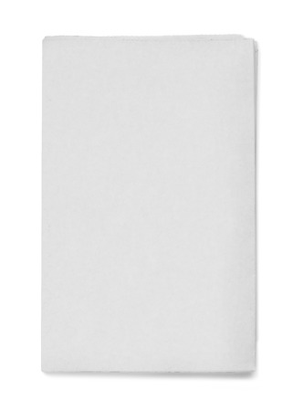 Blank grey newspaper on white background