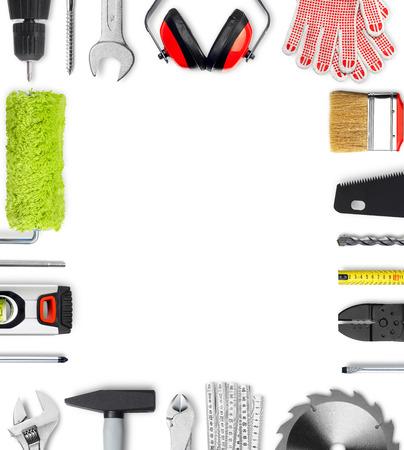 Photo pour Work tools frame - image libre de droit