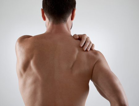 Photo pour Shoulder pain - image libre de droit