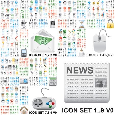 Vektor für Over 150 icons - Lizenzfreies Bild