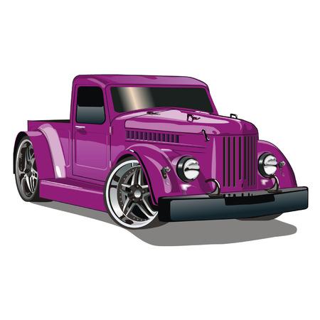 Illustration for Purple GAZ Hot Rod - Royalty Free Image