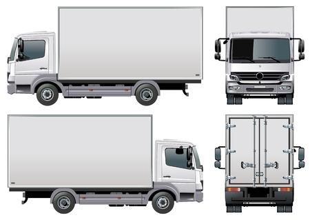 Illustration pour delivery / cargo truck - image libre de droit