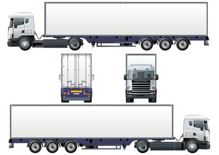 Illustration pour cargo semi-truck - image libre de droit
