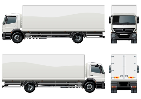 Illustration for delivery / cargo truck - Royalty Free Image