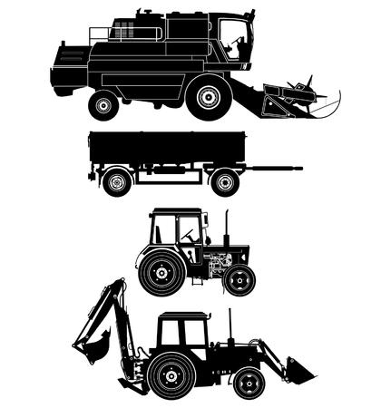 detailed agricultural vehicles set