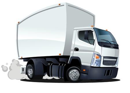 Illustration pour cartoon delivery   cargo truck - image libre de droit