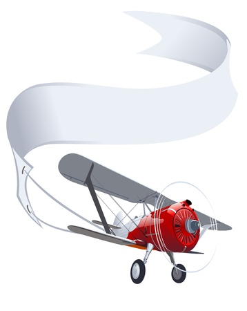Illustration for Vector retro airplane with banner - Royalty Free Image