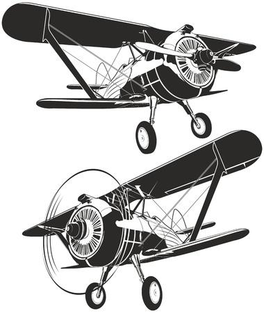 Illustration for Vector retro biplane - Royalty Free Image