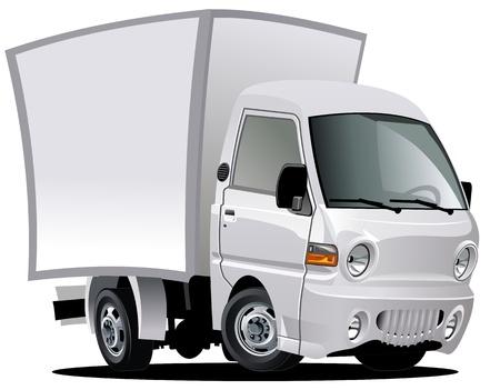 Illustration pour cartoon delivery / cargo truck - image libre de droit