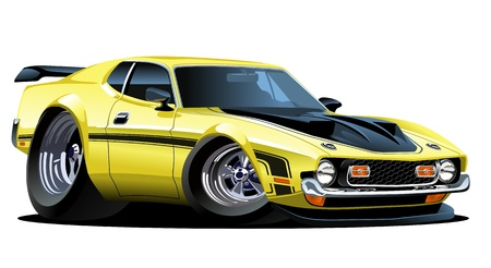 Vector cartoon muscle car