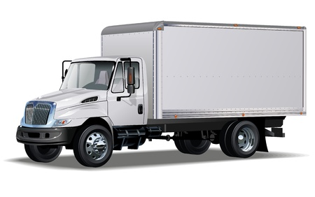 Illustration for delivery   cargo truck  One click repaint - Royalty Free Image